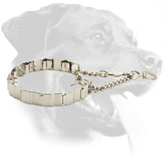 Stainless Steel Rottweiler Collar Equipped with Two O-Rings