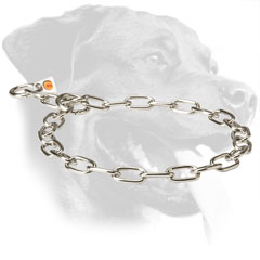 Rottweiler Collar Made of Stainless Steel for Behavior Correction