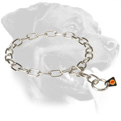 Stainless Steel Rottweiler Collar Equipped with Floating O-Ring