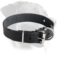Rottweiler Breed Neat Leather Collar