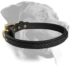 Rottweiler Awesome Hand Braided Leather Collar
