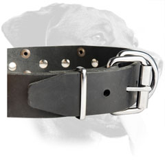 Rottweiler Fabulous Design Leather Collar