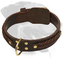 Rottweiler Leather Collar for training