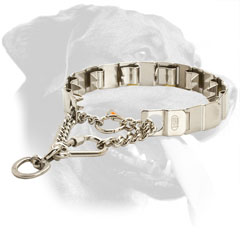 Top Quality Stainless Steel Rottweiler Pinch Collar with Martingale Chain
