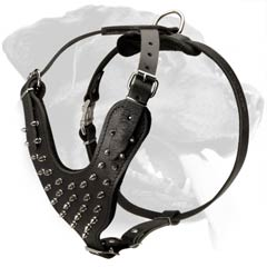 Extra Strong Rottweiler Dog Leather Harness