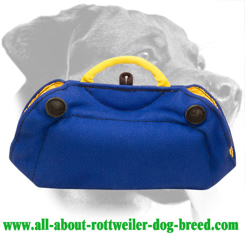 French Linen Rottweiler Bite Builder with Two Inside Handles - Click Image to Close
