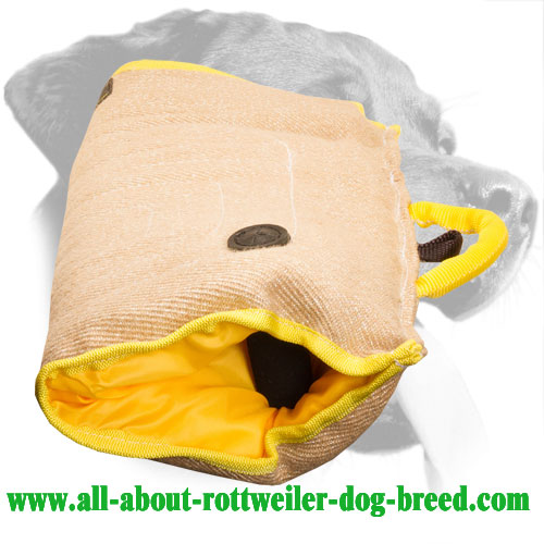 Jute Rottweiler Bite Sleeve with Inner Padded Handle