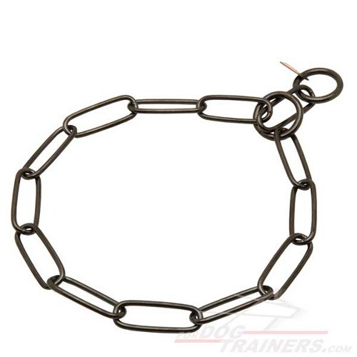 Stylish Rottweiler Chain Choke Collar, 1/9 inch (3 mm) Link Diameter