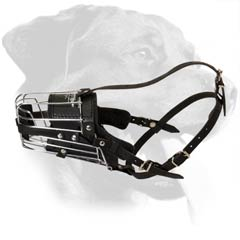 Easy Adjustable Metal Cage Rottweiler Muzzle